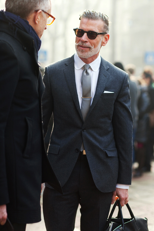 Nick Wooster, All Business suit