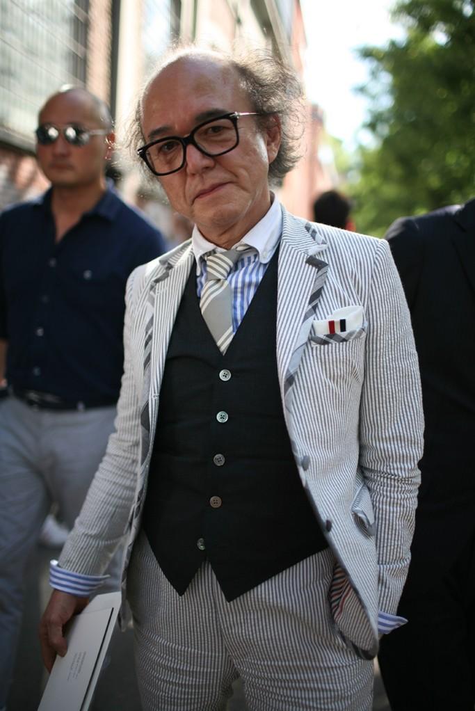 Plaid Trim Seersucker Jacket 3p suit menswear