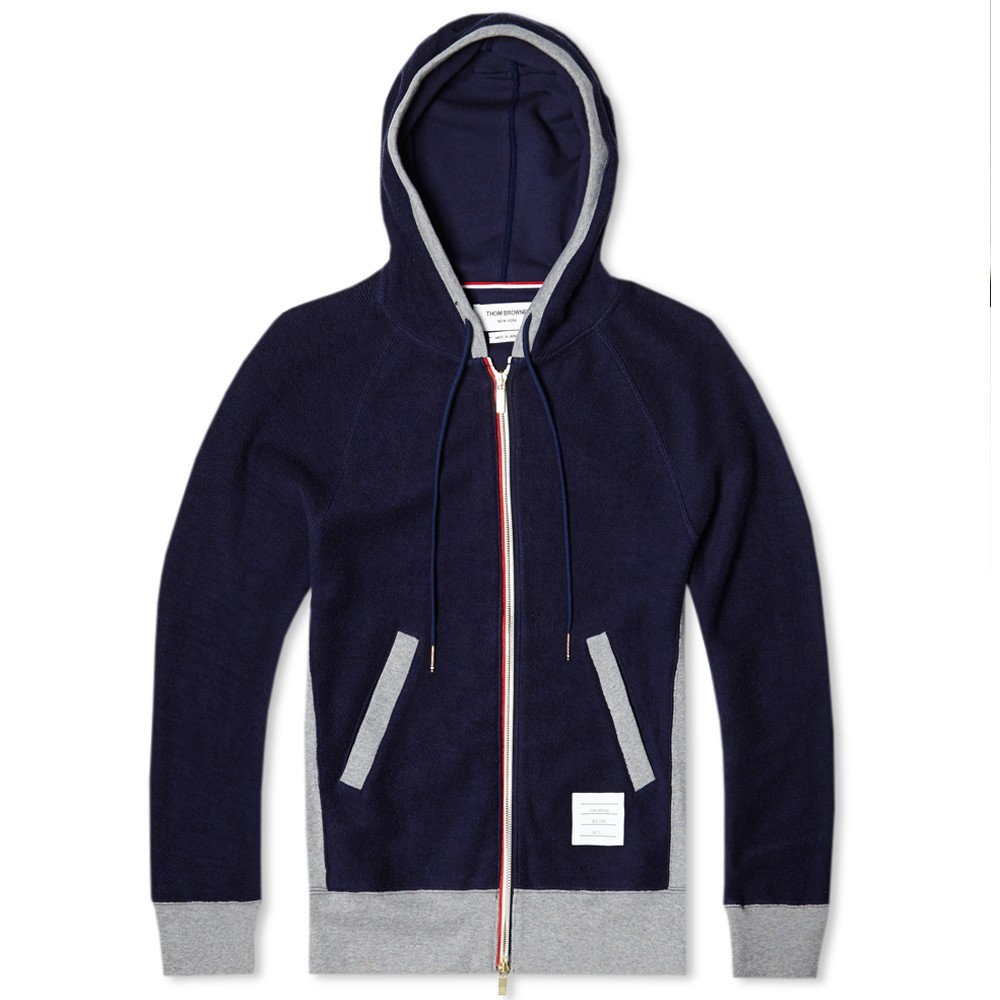 Pin Thom Browne Button Up Hoodie on Pinterest
