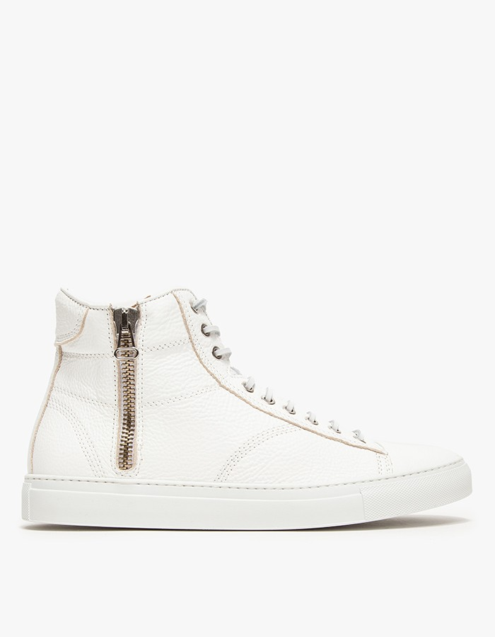 wings+horns Leather Hi-Top Zip Sneakers 1