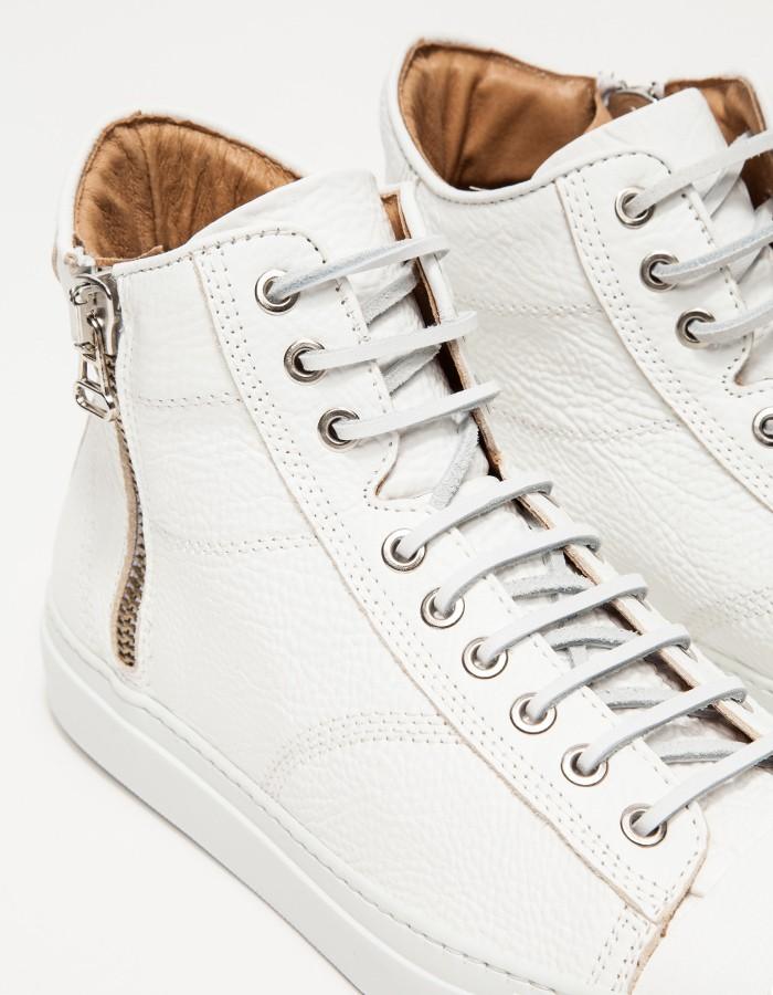 wings+horns Leather Hi-Top Zip Sneakers 2