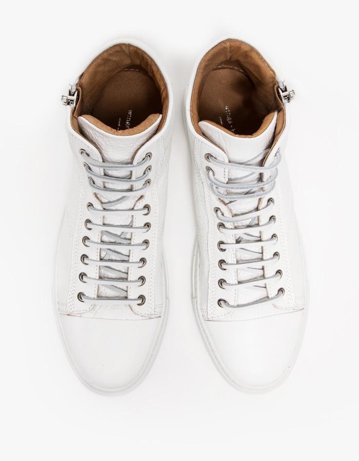 wings+horns Leather Hi-Top Zip Sneakers 3