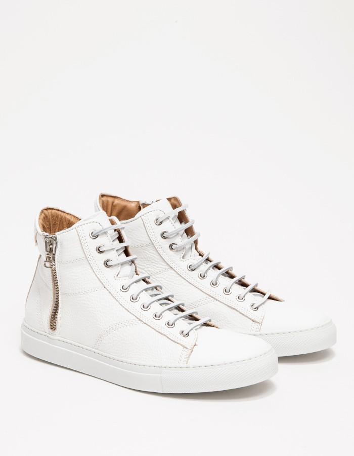 wings+horns Leather Hi-Top Zip Sneakers 4
