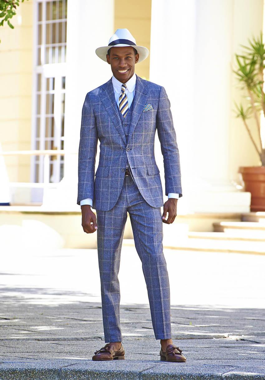 Beautiful Windowpane 3p Suit, Lanificio Ferla