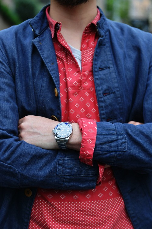 Red Non-Paisley Shirt men's fashion