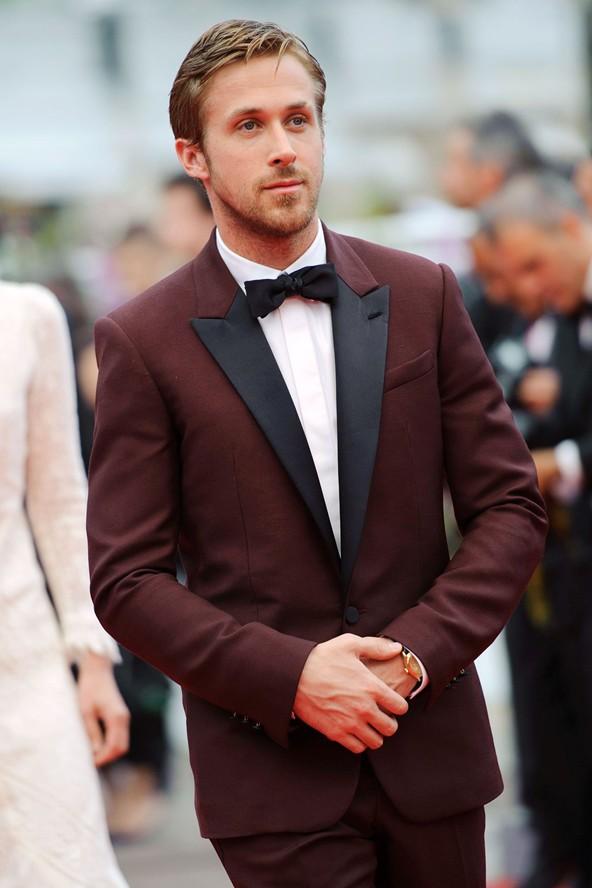 Ryan Gosling Contrast Lapel × Bow Tie