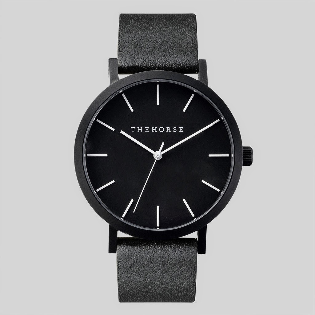 The Horse black face minimal watch