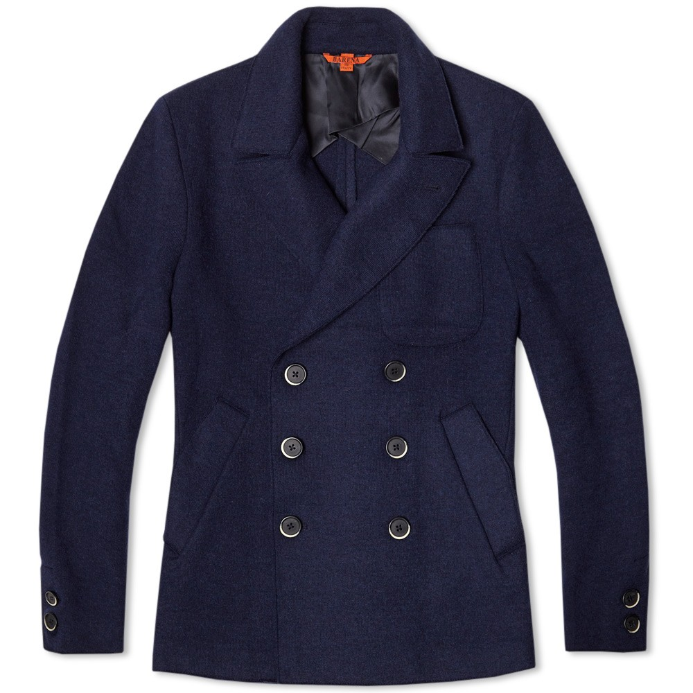 Unstructured Double Breasted Navy Coat, Italy