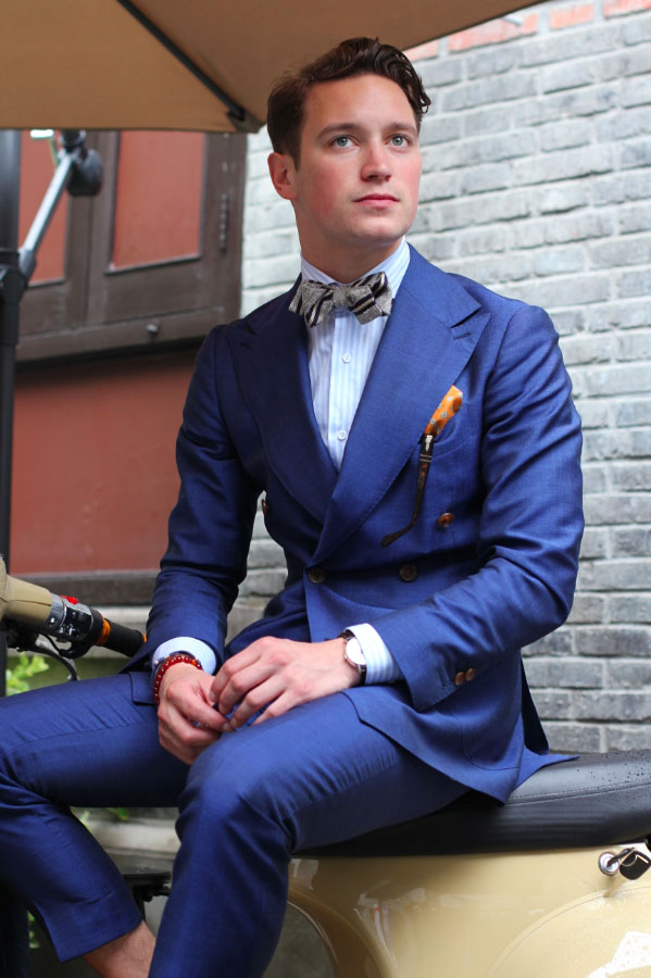 Vespa DB Blue Suit mensfashion