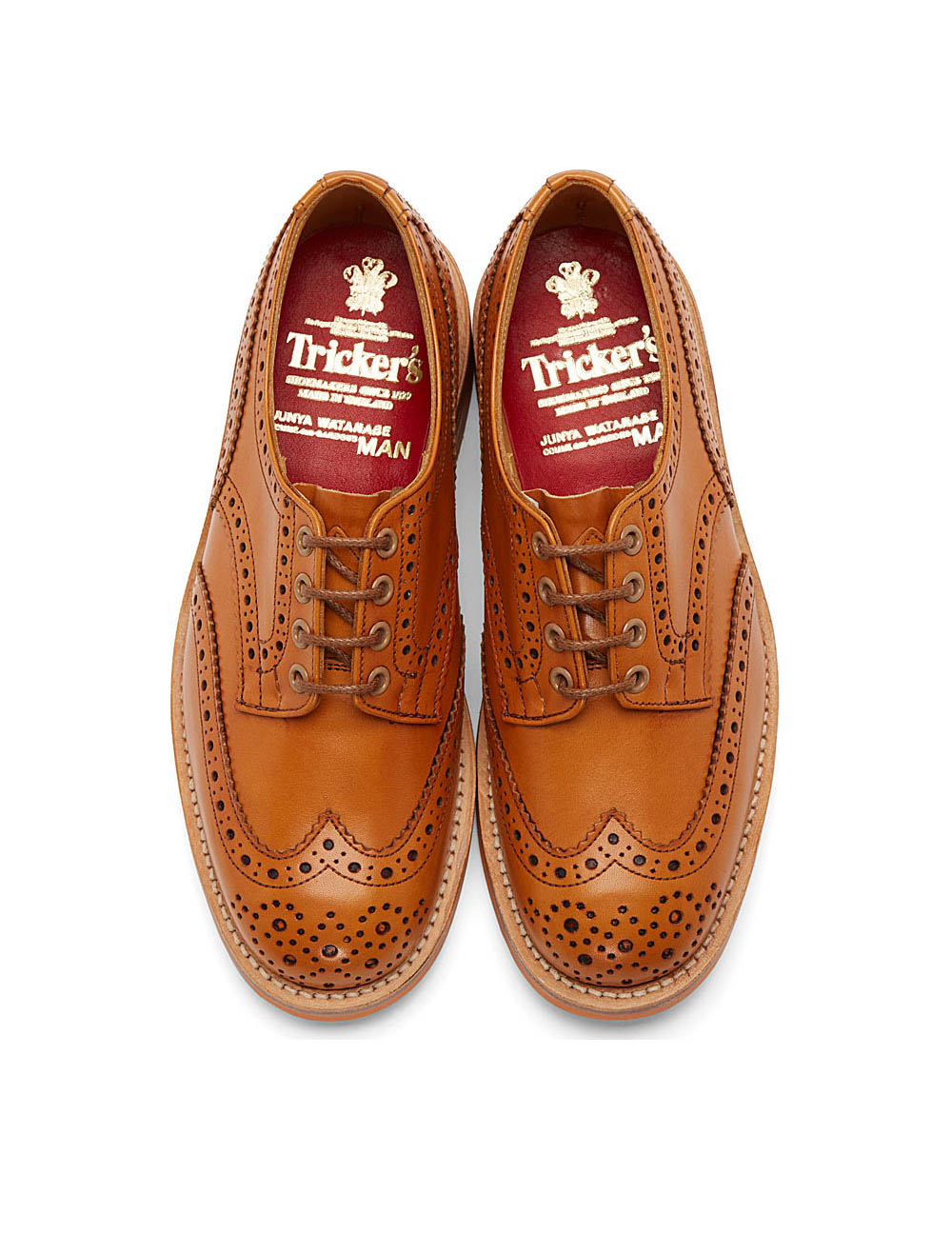 Beige Shortwing Brogue, Tricker's x Junya Watanabe British Shoes