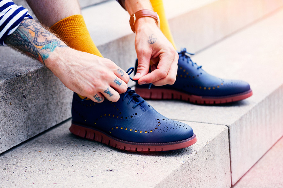 Contrast Perforations Cole Haan SS14 ZeroGrand