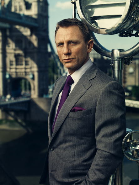 James Bond Grey Suit Daniel Craig menswear