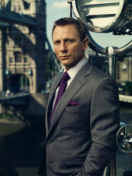James Bond Grey Suit Daniel Craig menswear