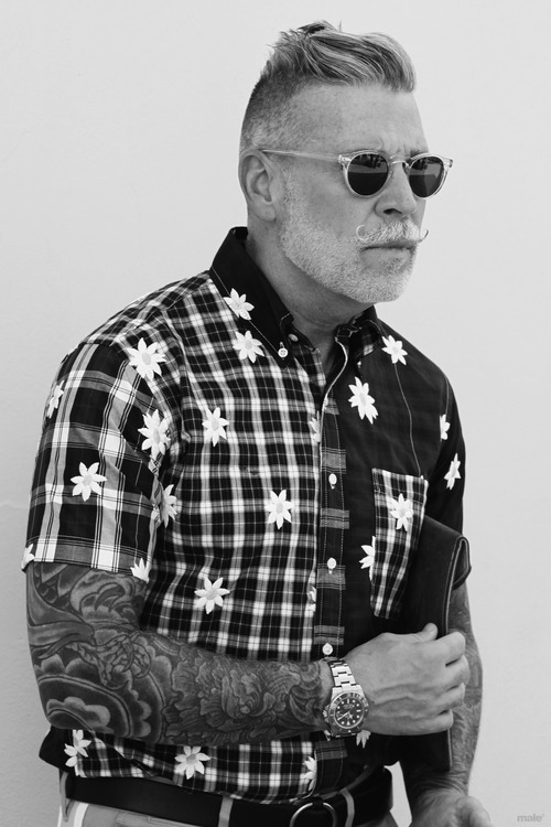 Nick Wooster B&W Floral & Check Shirt #menswear
