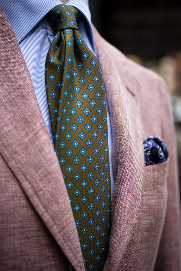 Not Quite Purple Not Quite Pink Jacket Zegna, tie by Drake's