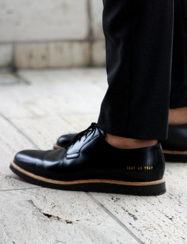 Common Projects Derby Hi Shine Crepe Sole