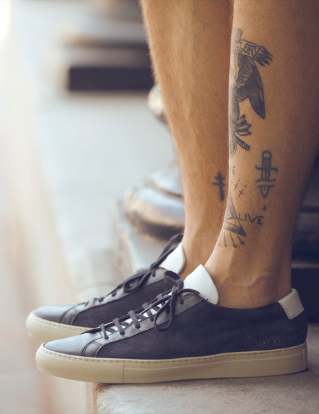 Common Projects Sneakers Multi-tone white tongue