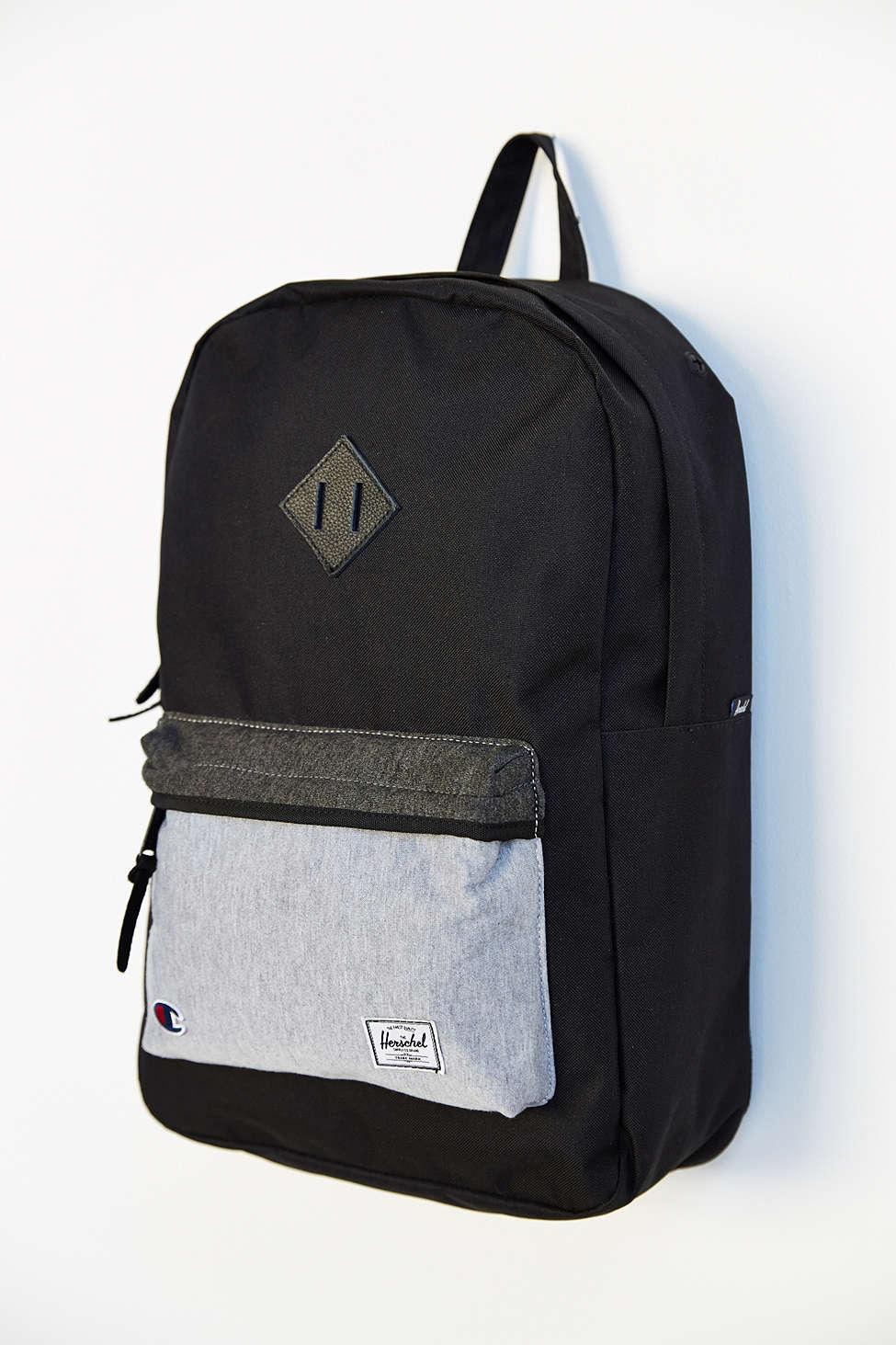 Herschel Supply Co. x Champion Backpack Blk