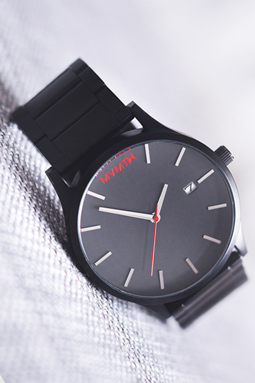 MVMT Black Classic Metal Watch