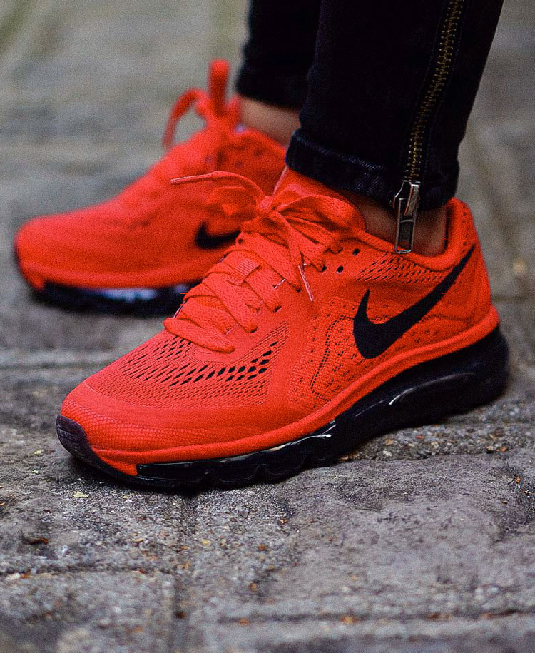nike air max 2014 all red