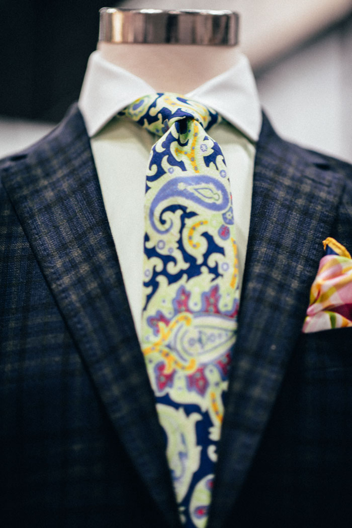 Paisley Tie × Plaid #mensfashion