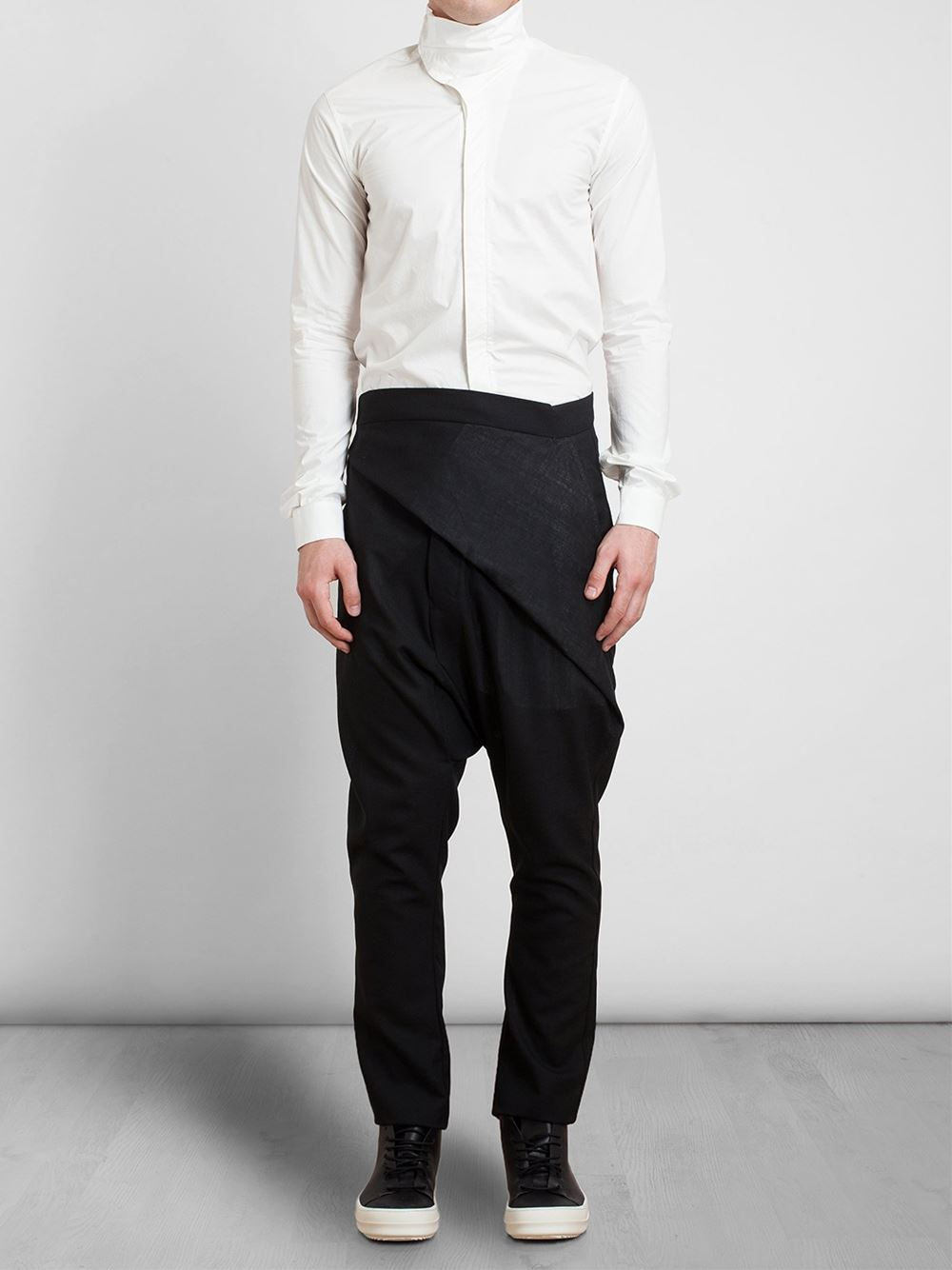Rick Owens Drop Crotch Trousers, luxury menswear