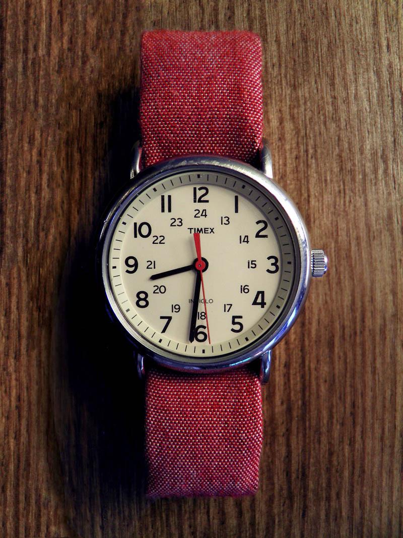 Timex Weekender × Bespoke Red Strap