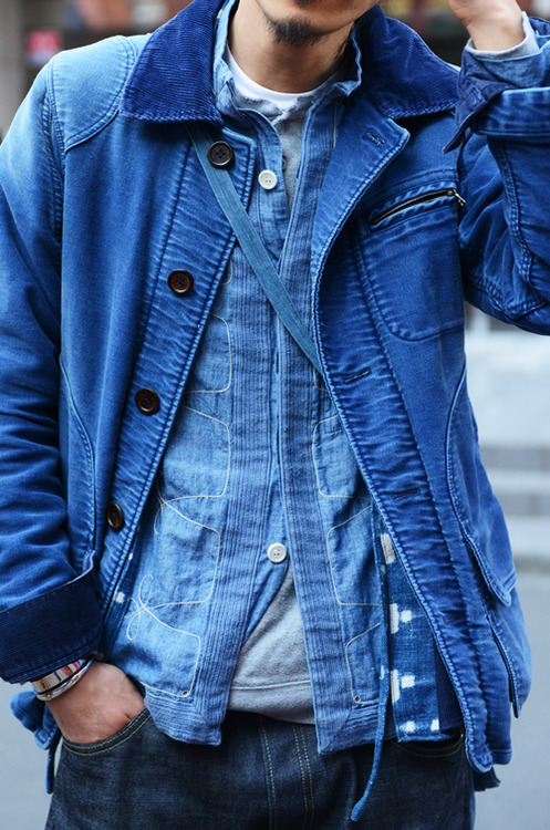 visvim Corduroy Lined Denim Jacket