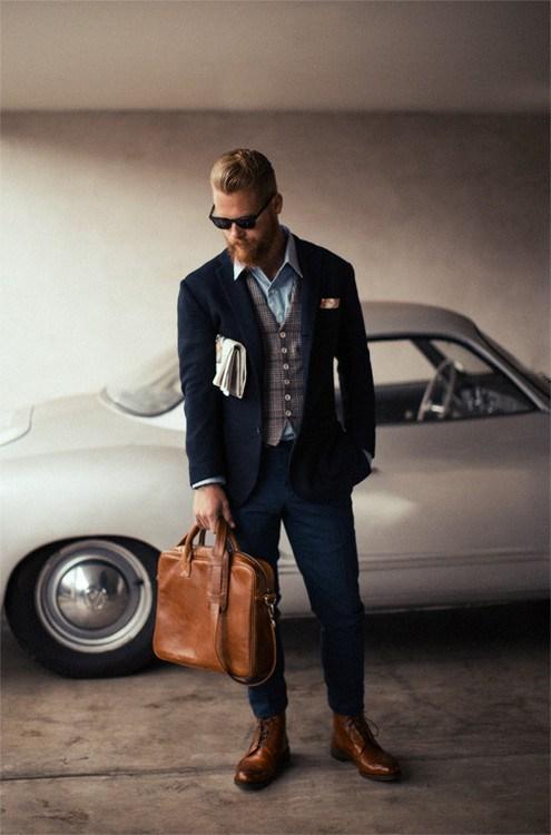 Brown x Blue menswear men's style