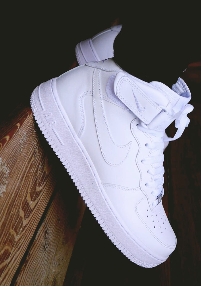 white nike air force 1 stivaletti femminili