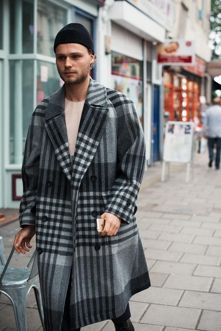DB Plaid Overcoat in Grey #menswear