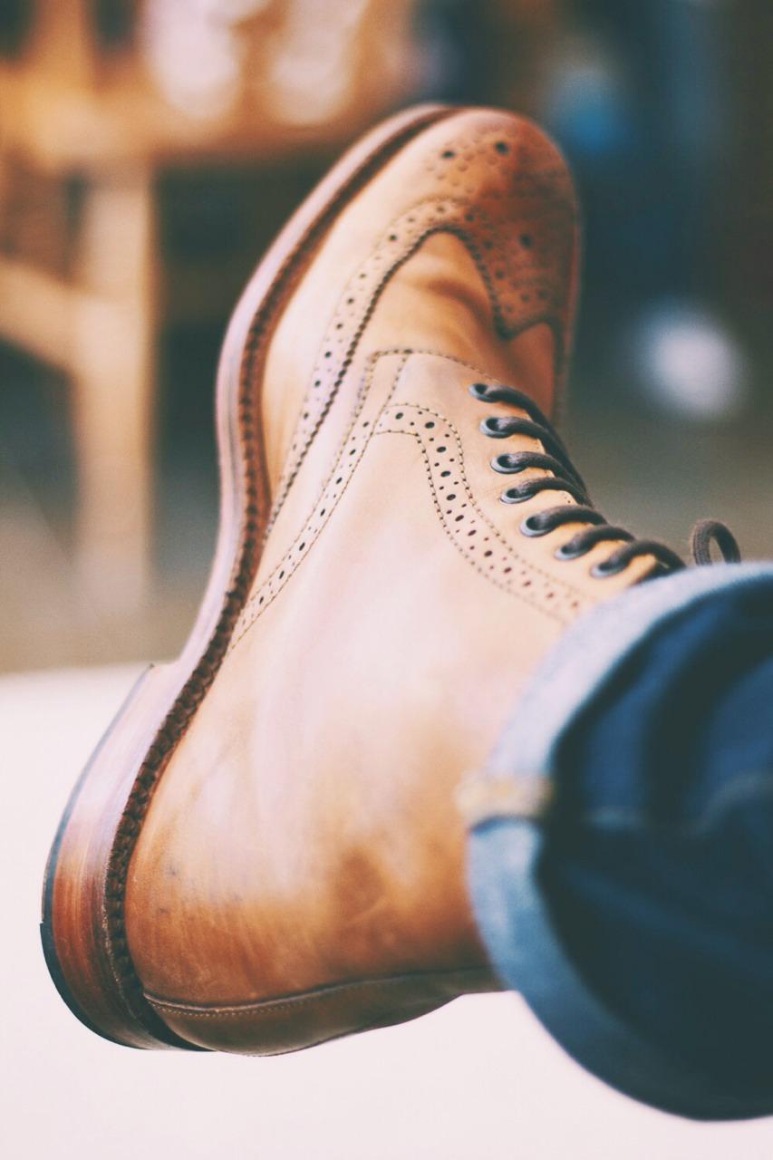 Grenson Fred Brogue on Feet