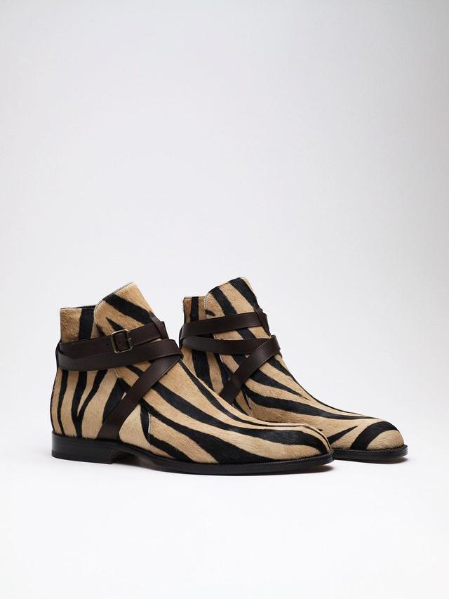 Lined Calf Fur Jodhpur Zonkey Boot