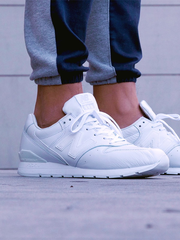 New Balance 996 White on White