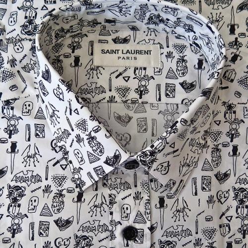 Saint Laurent Motif Print Shirt