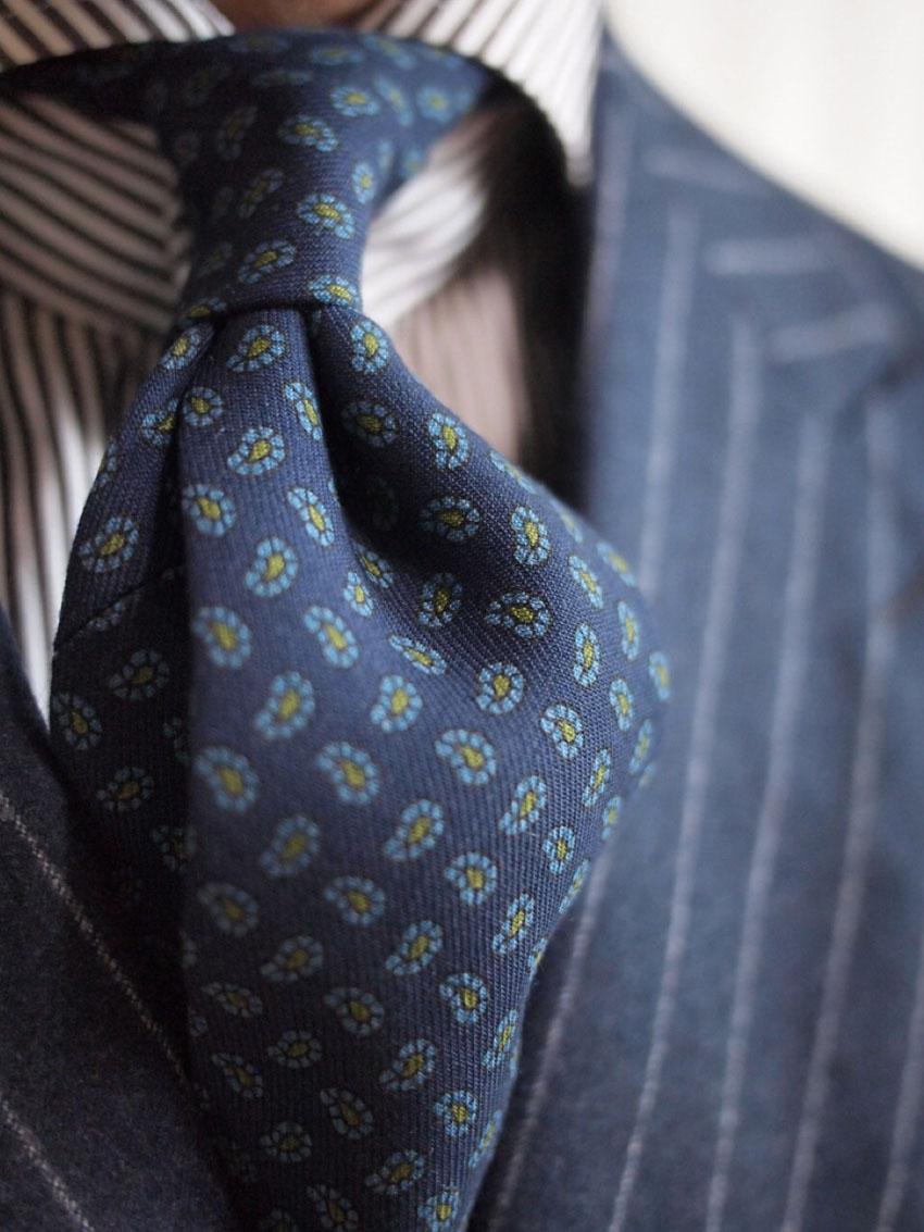 Shibumi Handmade Leaf Print Tie