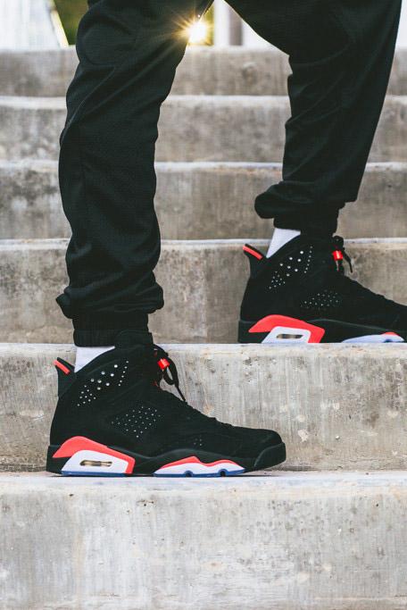 Air Jordan 6 Retro Infrared Black Nikes Discount Jordan Shoes Sale