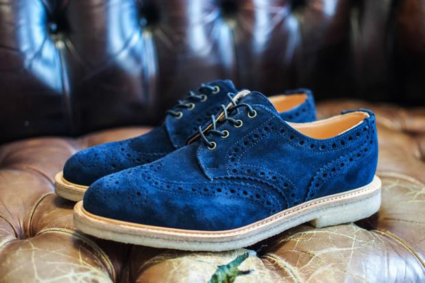Blue Suede Brogues