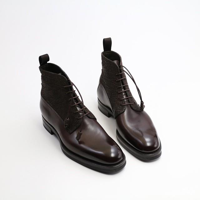 Calf × Elephant Leather Boots, Zonkey