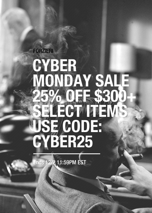 Forzieri Cyber Monday Sale Coupon Code 2014