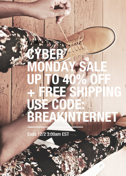 KarmaLoop Cyber Monday SALE Coupon Code 2014