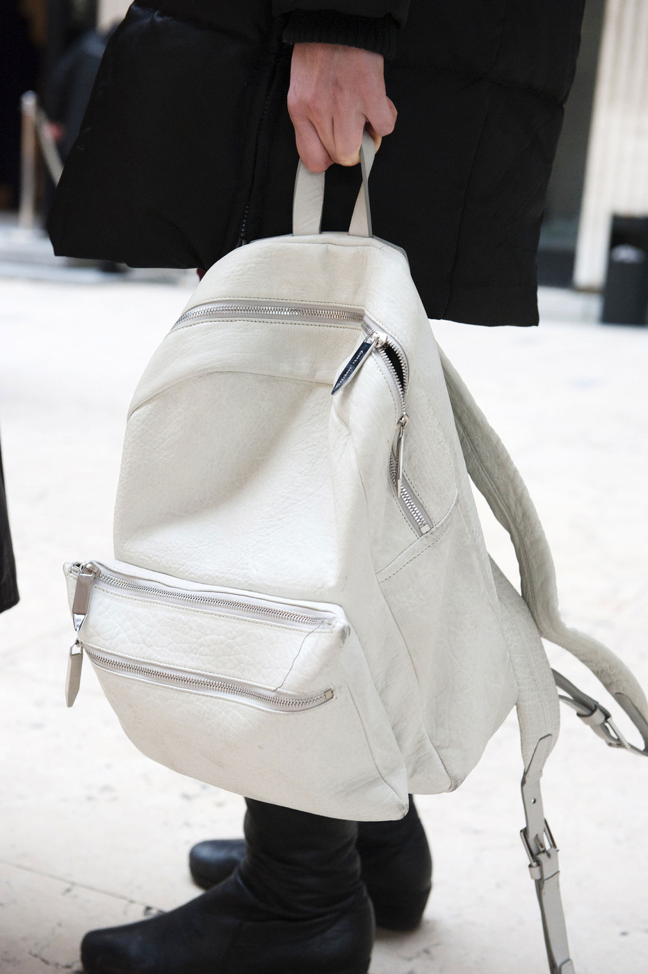 Off-White Leather Backpack Luxury Menswear