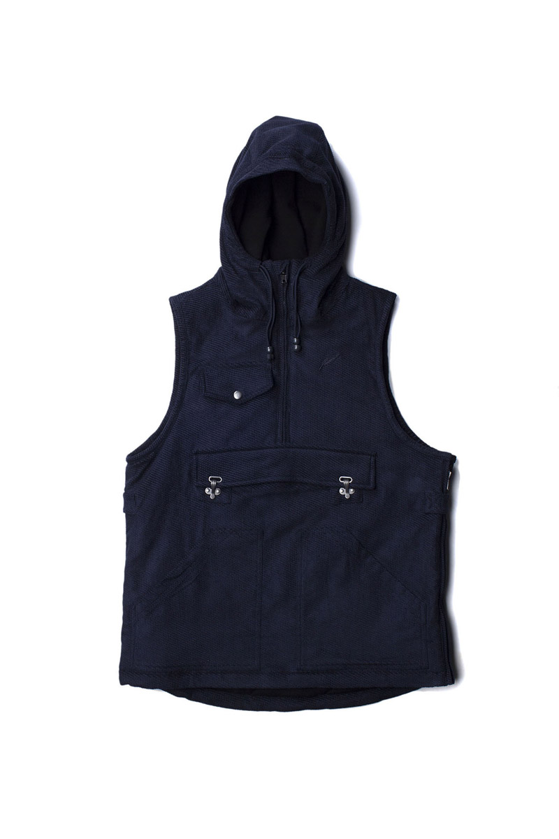 Publish Oaks Textured Hoody Vest
