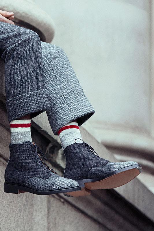 Thom Browne Herringbone Wool Boots