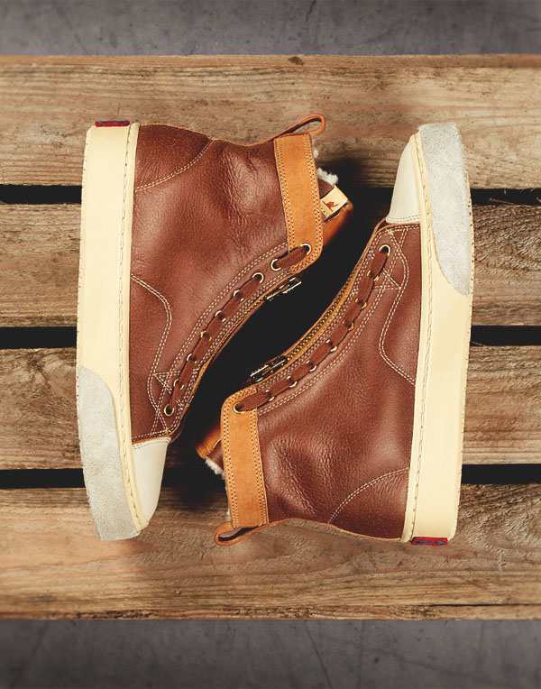 Visvim Skagway Hi-Folk Light Brown