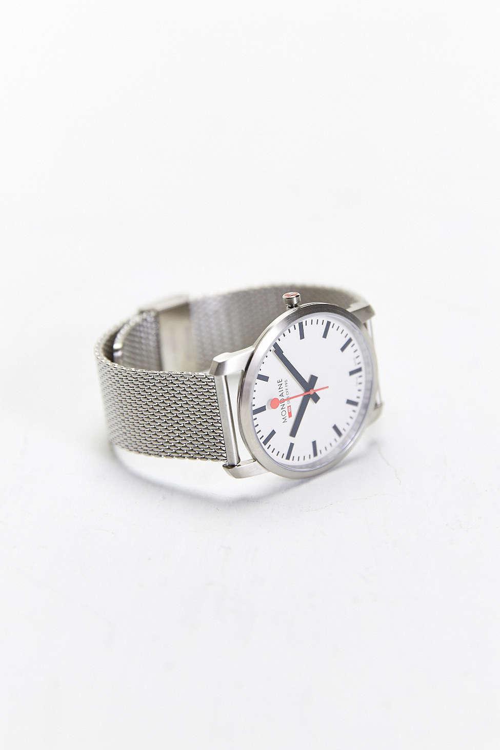 Mondaine Simply Elegant Watch milanese bracelet