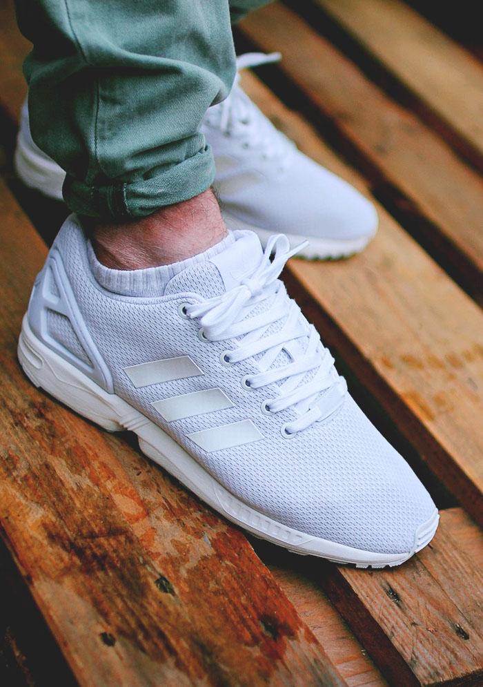 adidas Originals zx Flux Vegan White