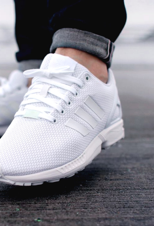 new style 9c95b 80c05 adidas shoes zx flux white