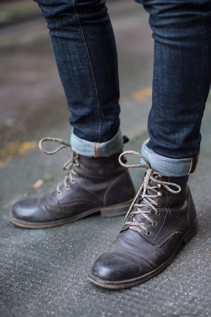 Cuffed Denim & Ryan Gosling Style Boots