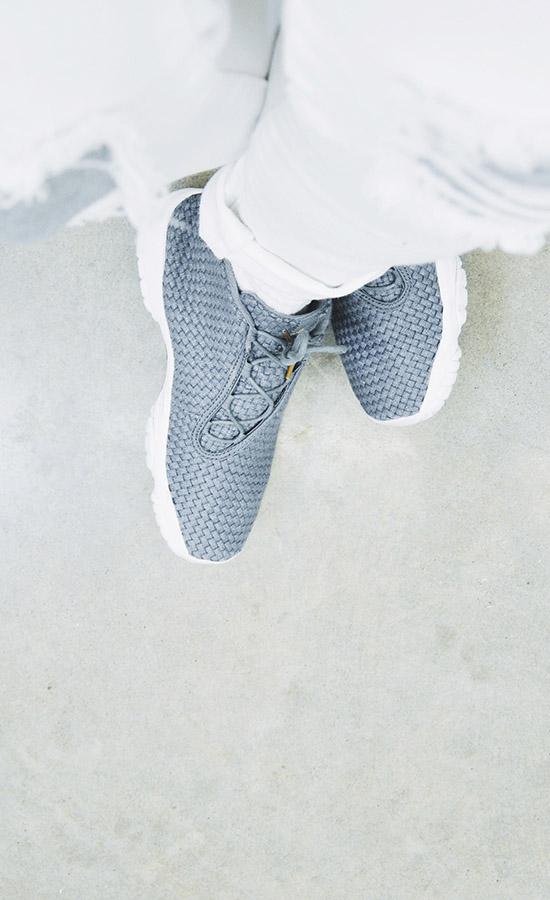 Grey NIKE Air Jordan Future × White Pants